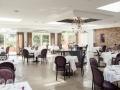 La salle du restaurant Le Lingousto peut accueillir jusqu'à 100 invités