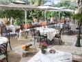 La terrasse du restaurant Le Lingousto peut accueillir jusqu'à 150 personnes