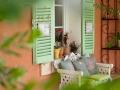 Un moment de détente au restaurant Le Lingousto